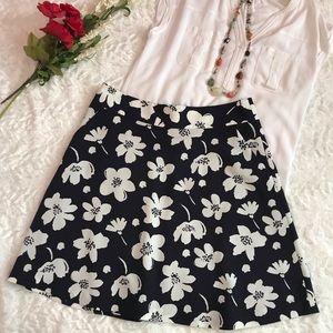 Ann Taylor Floral Flare Skirt